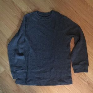 Waffle weave long sleeved thermal T